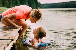 Mom and daughter at camp
