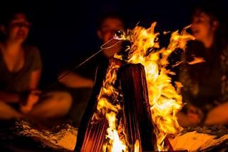 Campfire at summer camp